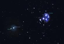 46p wirtanen near the pleiades dec. 16 2018 stellarium
