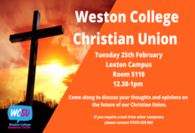 Christian union loxton campus tuesday 12.30 1pm