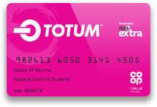 Pink totum card