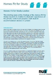 Homes fit for study london