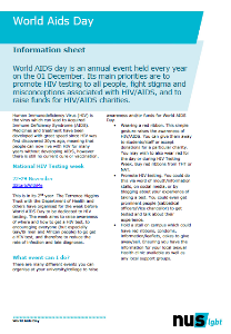 World aids day info