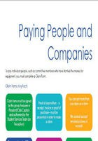 Paying people and companies