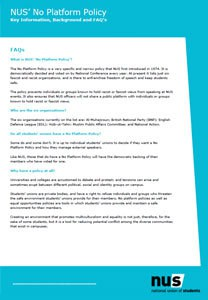 Nus no platform policy information
