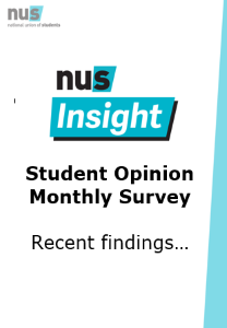 Student opinion survey front page