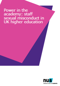 Staff student misconduct report cover
