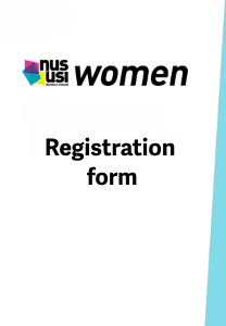 Nususi women conference registration frontpage