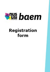 Nususi baem conference reg form frontpage