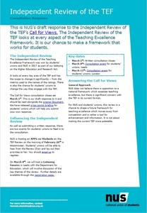 Tef ir consultation response