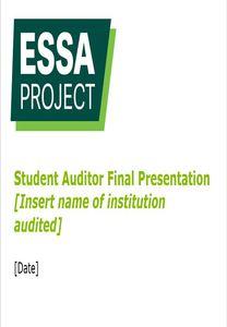 Essa   audit presentation
