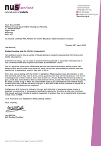Letter to housing minister cover mar 2020 cover image