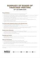 Board of trustees 22nd october 2020