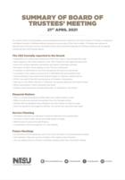 Board of trustees 21st april 2021