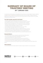 Board of trustees 25th january 2021