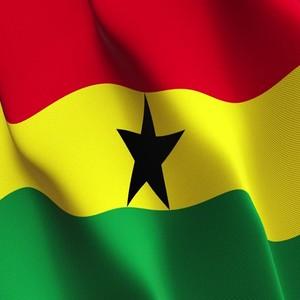 Ghana flag waves
