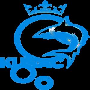 Kusac transparent original blue logo