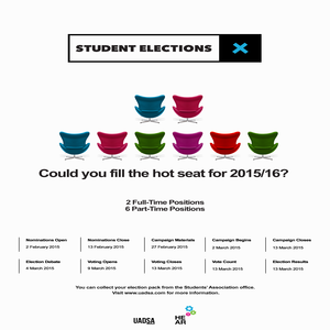 Elections 2015 poster uadsa