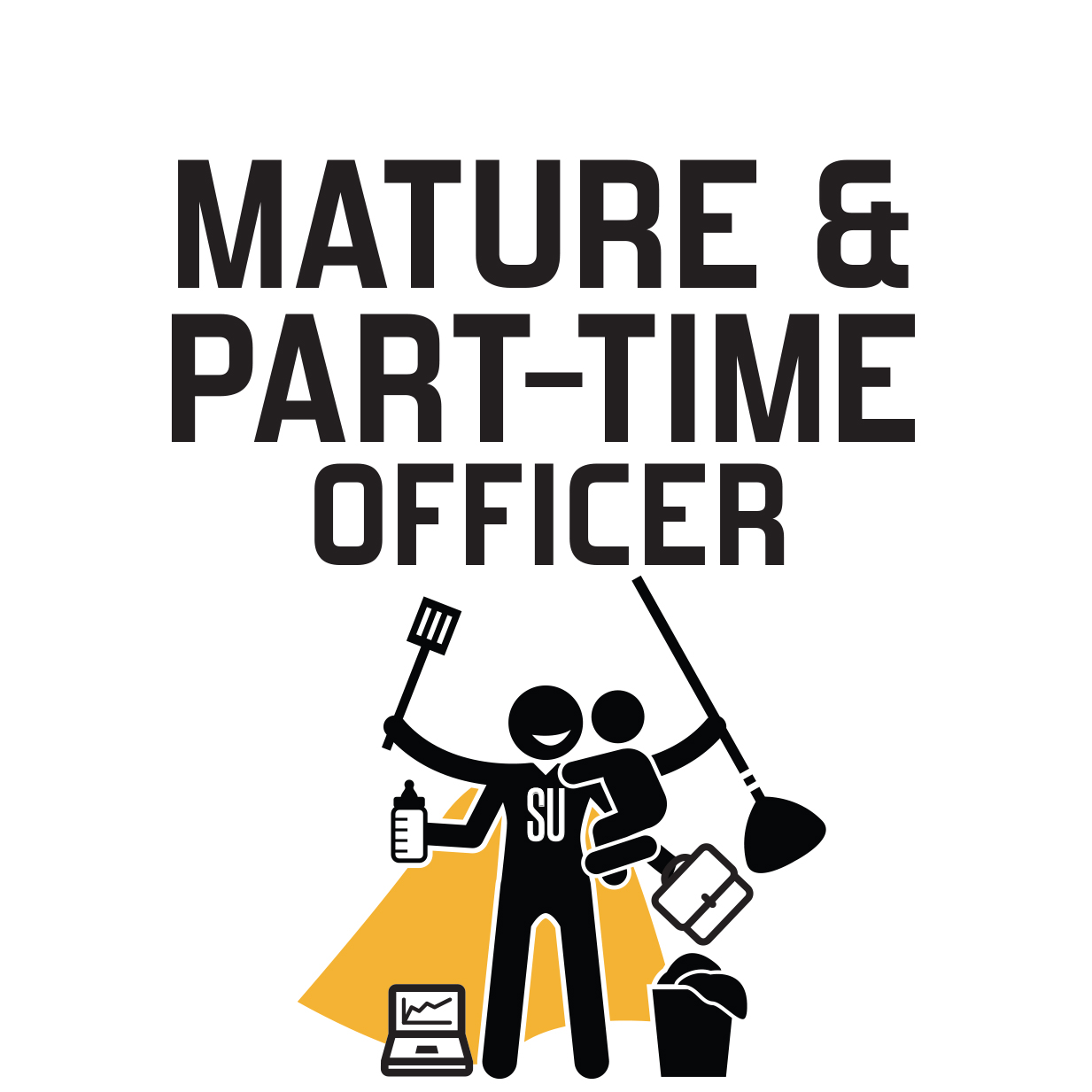 Graphic image representing Mature and Part Time Officer.