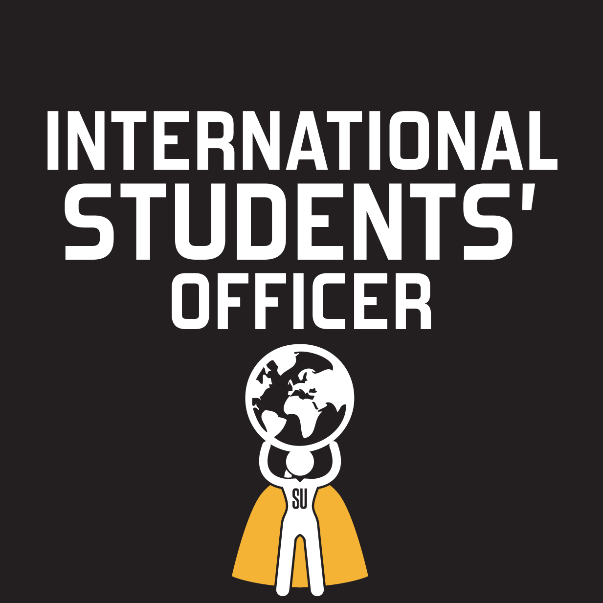 Graphic image representing International Students' Officer