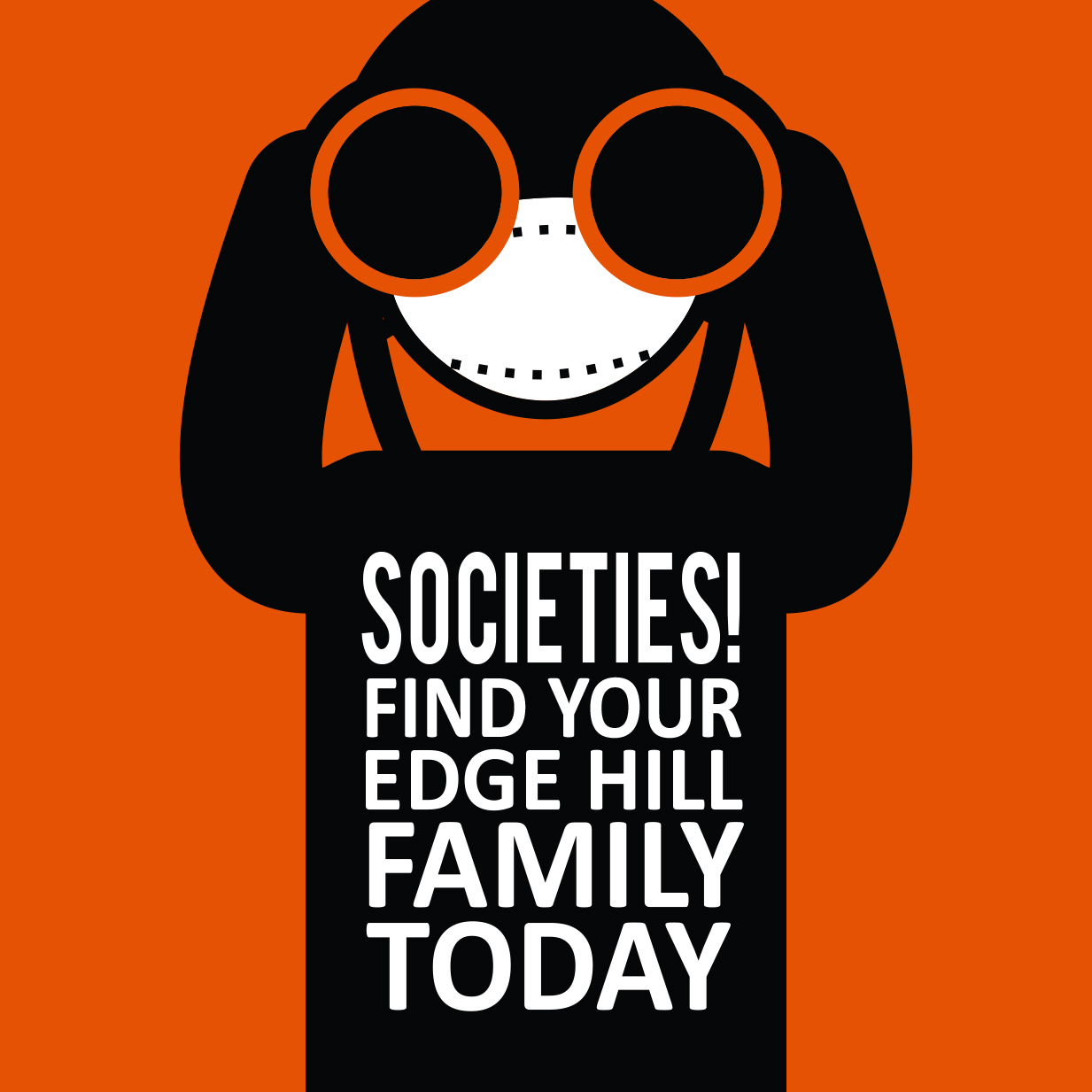 Web Button: Societies! Find your Edge Hill family