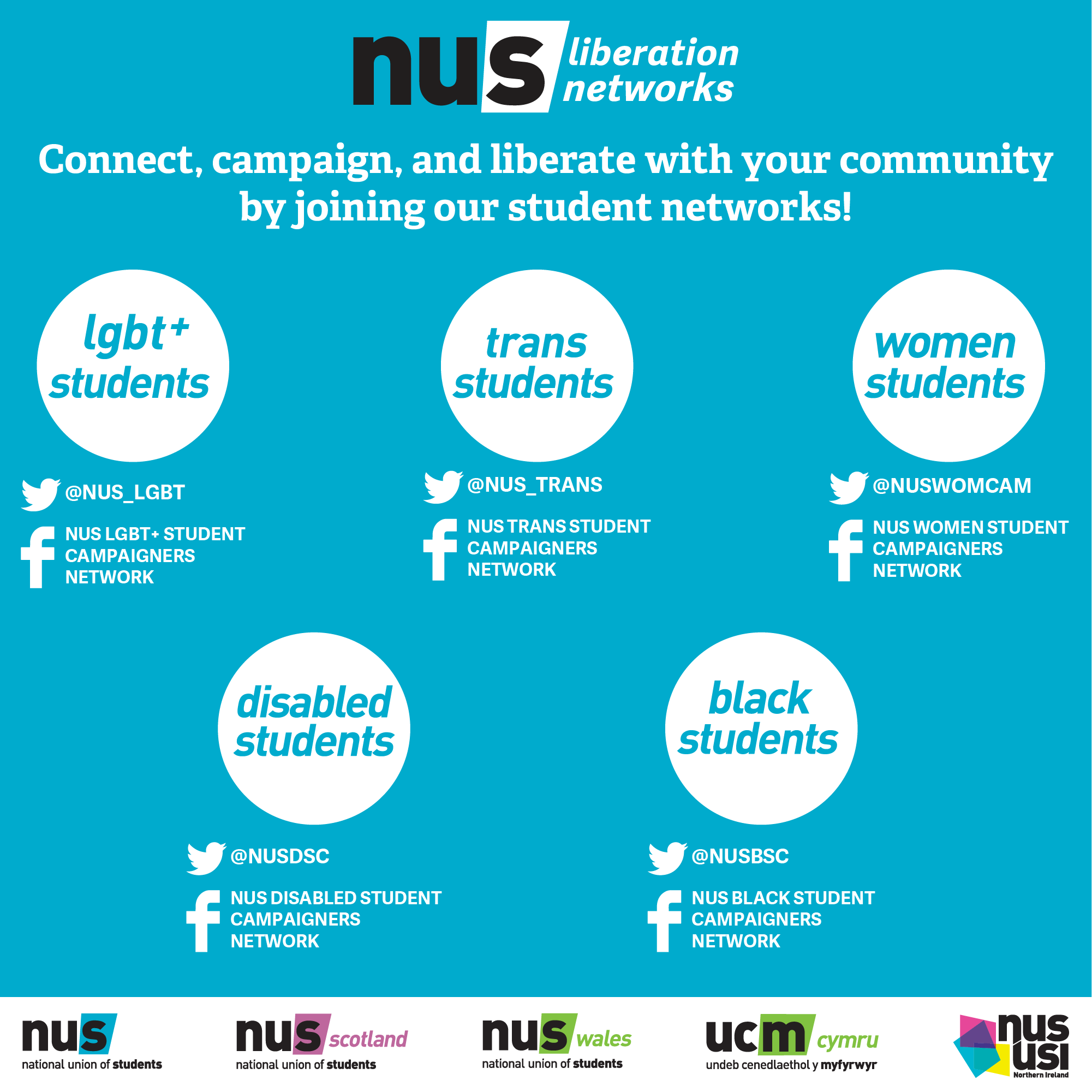 Connect, campaign and liberation with your community by joining our student networks!