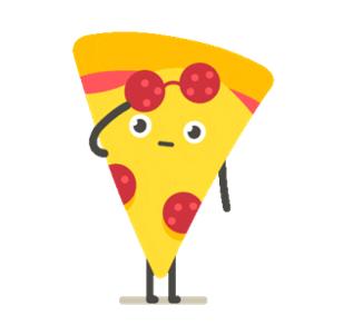 cartoon pizza slice