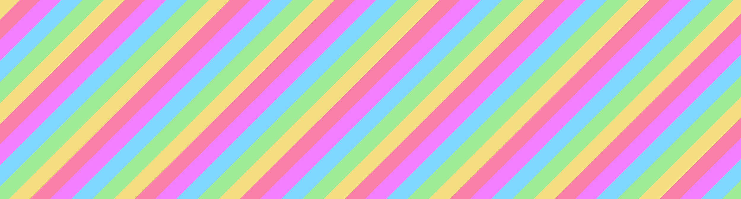 A rainbow striped banner