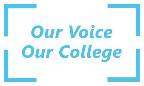 Our Voice Our College Button