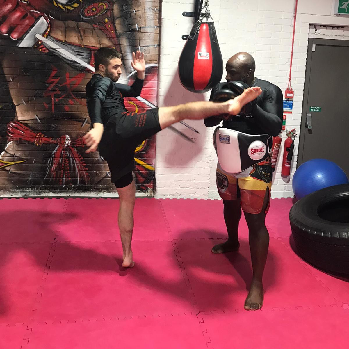 Picture of some students sparring in MMA