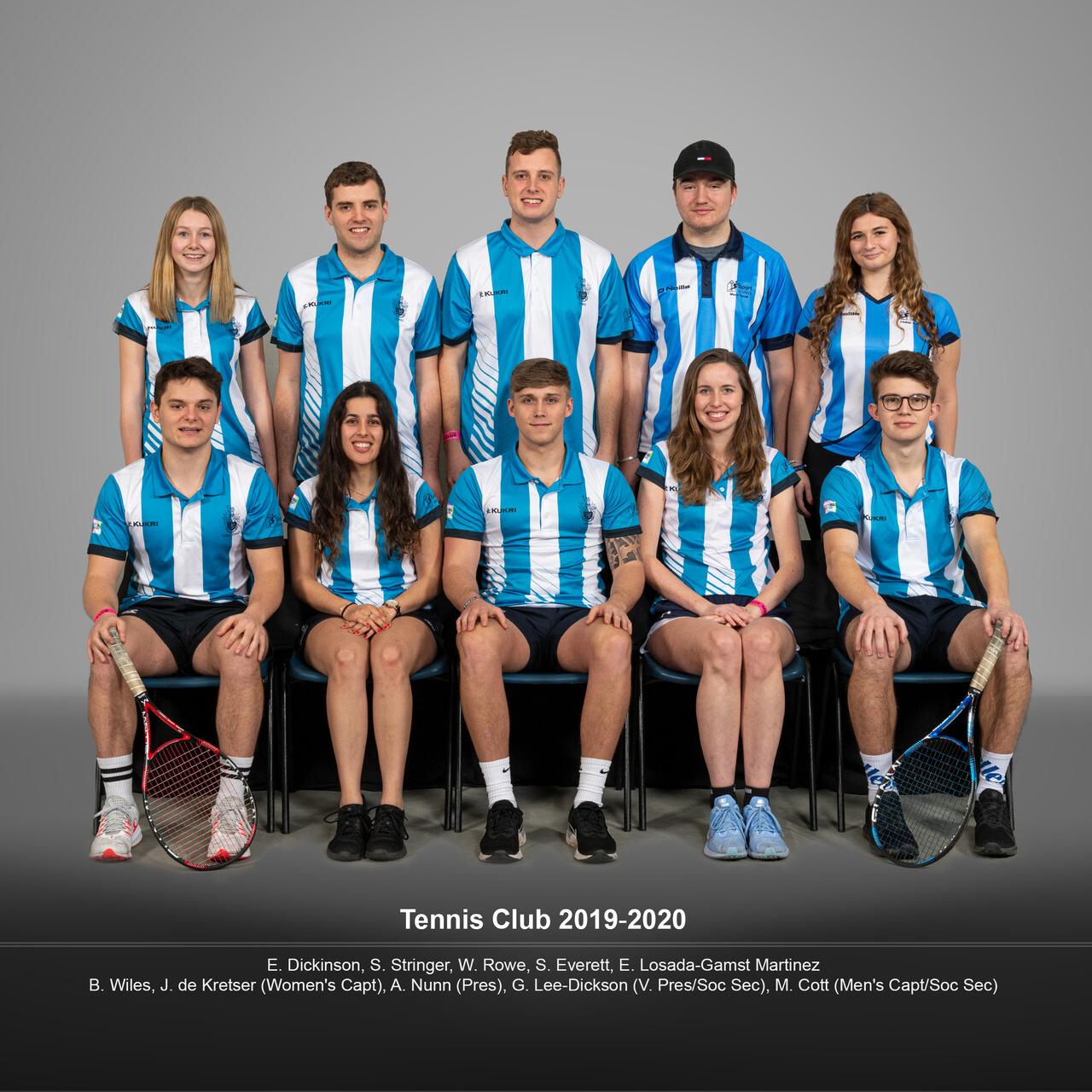 Full team photo of the Tennis Club