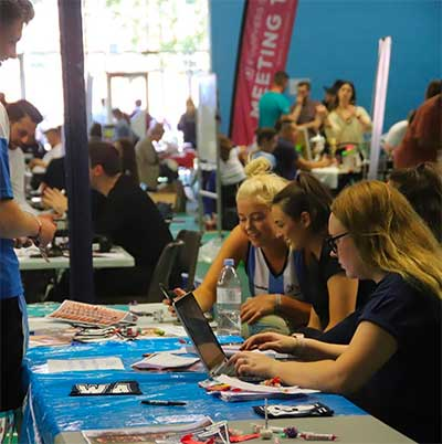 Students at the Freshers' Fair