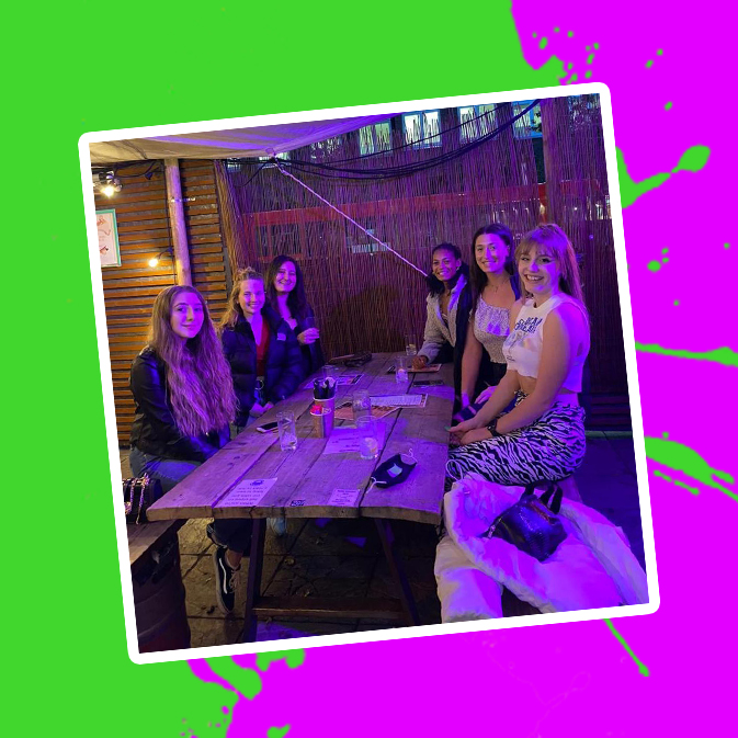 Pictures of St Mary's students at our Crazy Golf freshers' event