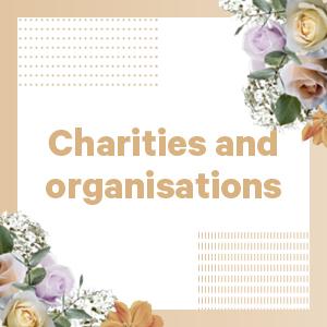 Charities and organizations