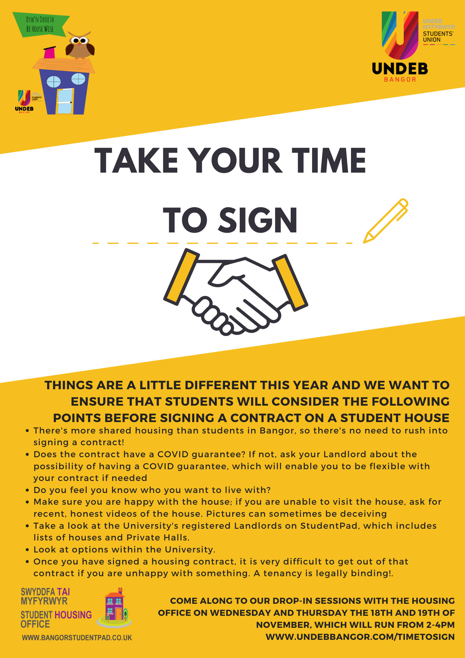 The Take your Time to Sign Poster.