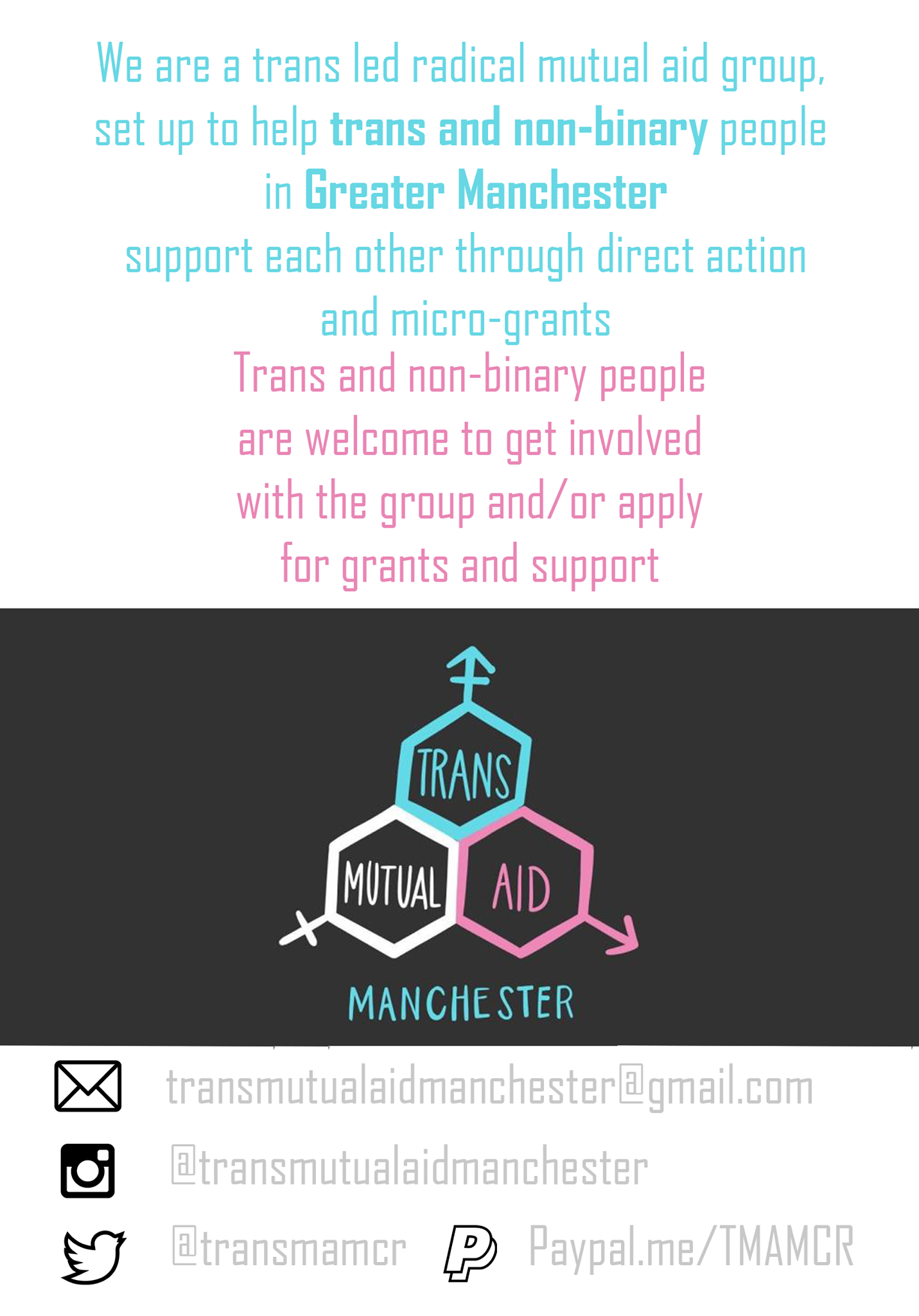 Trans Mutual Aid Manchester poster