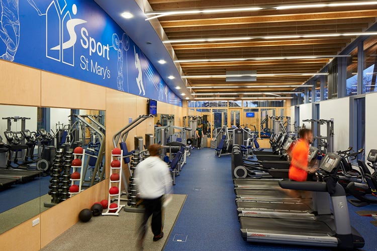 A picture of the Fitness and Conditioning Suite at Sport St Mary's
