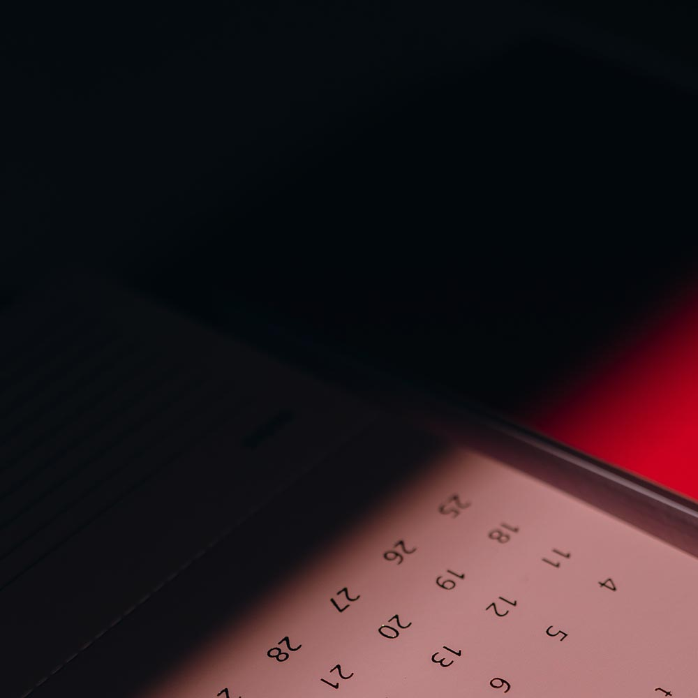 A picture of a calendar with some dates in it