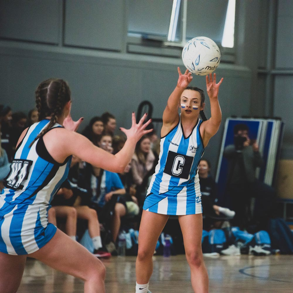 An image of a netball player at St Mary's