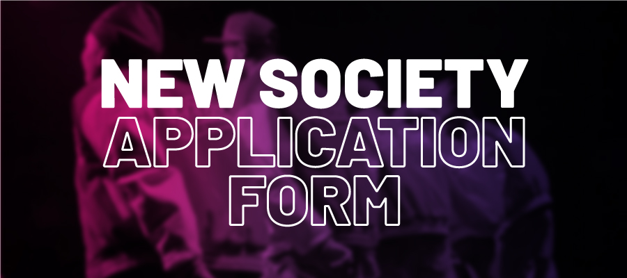 Start a new society application form