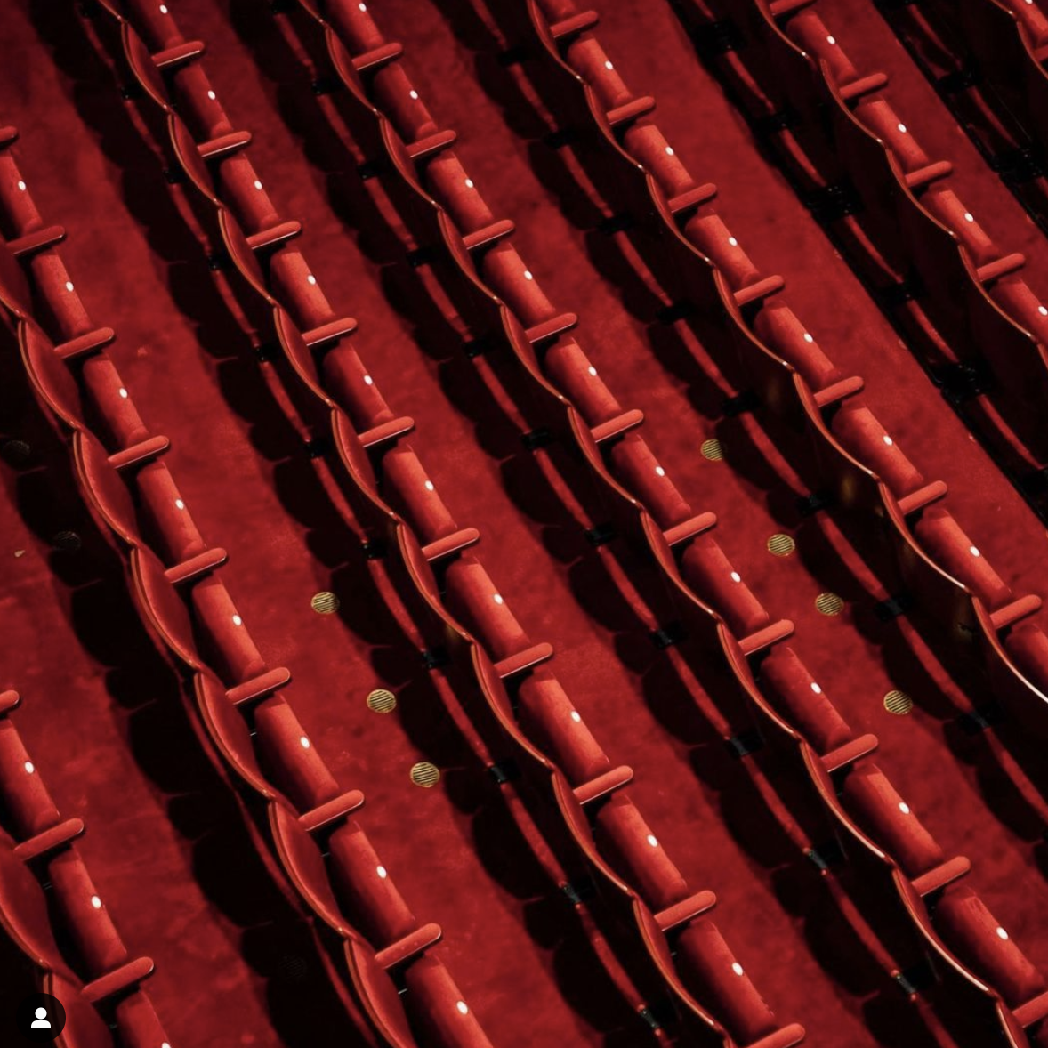 An image of the seats inside the Lyric Theatre