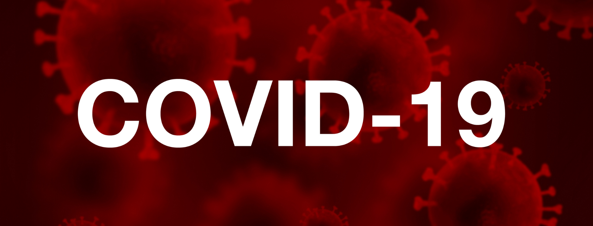 Image of the covid-19 virus, with the word Covid-19 written on it.