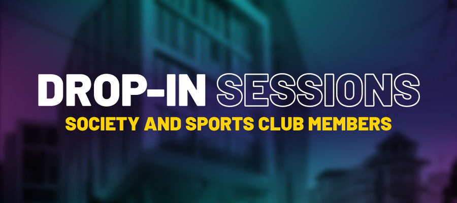 Drop-In Sessions For Societies and Sports club members.