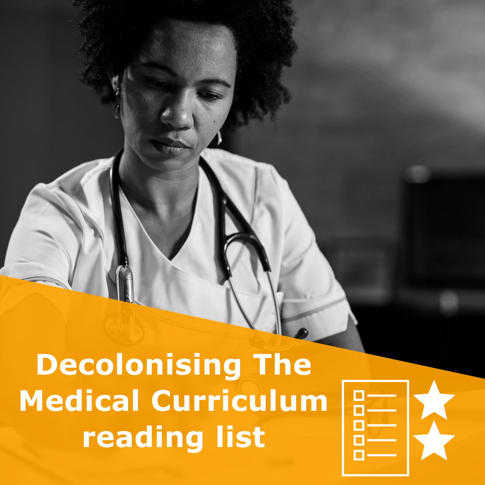 Title 'Decolonising The Medical Curriculum reading list'. It is a reading list rated 2 stars.