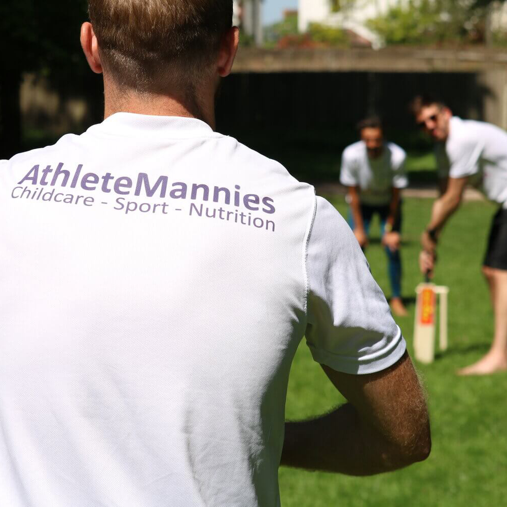 An image of lots of students on a run in Athlete Mannies T-shirts