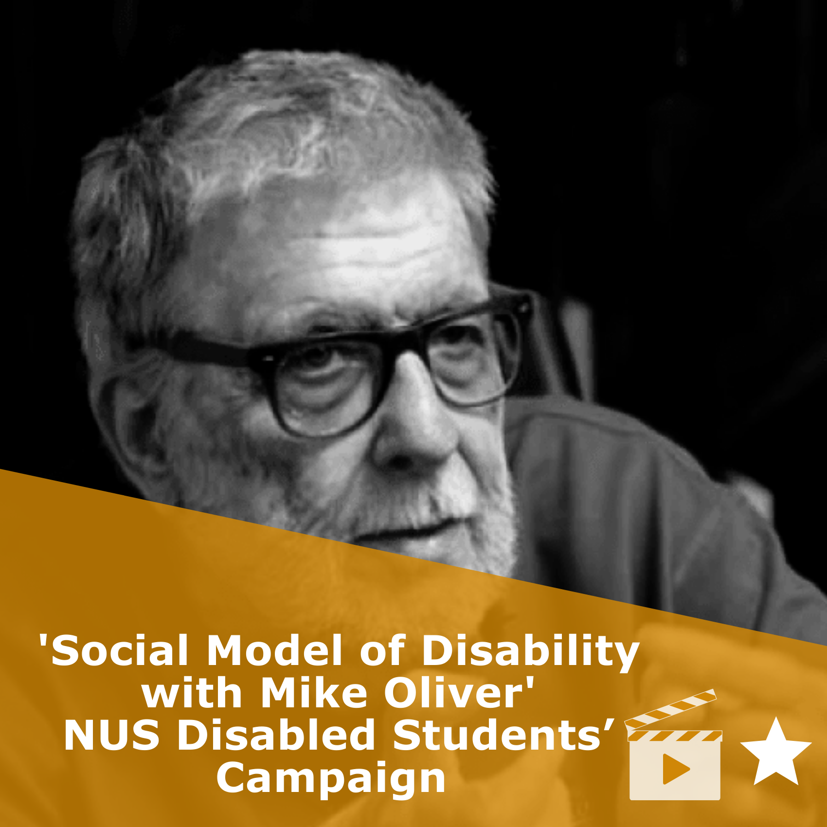Title Social Model of Disability with Mike Oliver | NUS Disabled Students' Campaign'. It is a video rated 1 star.