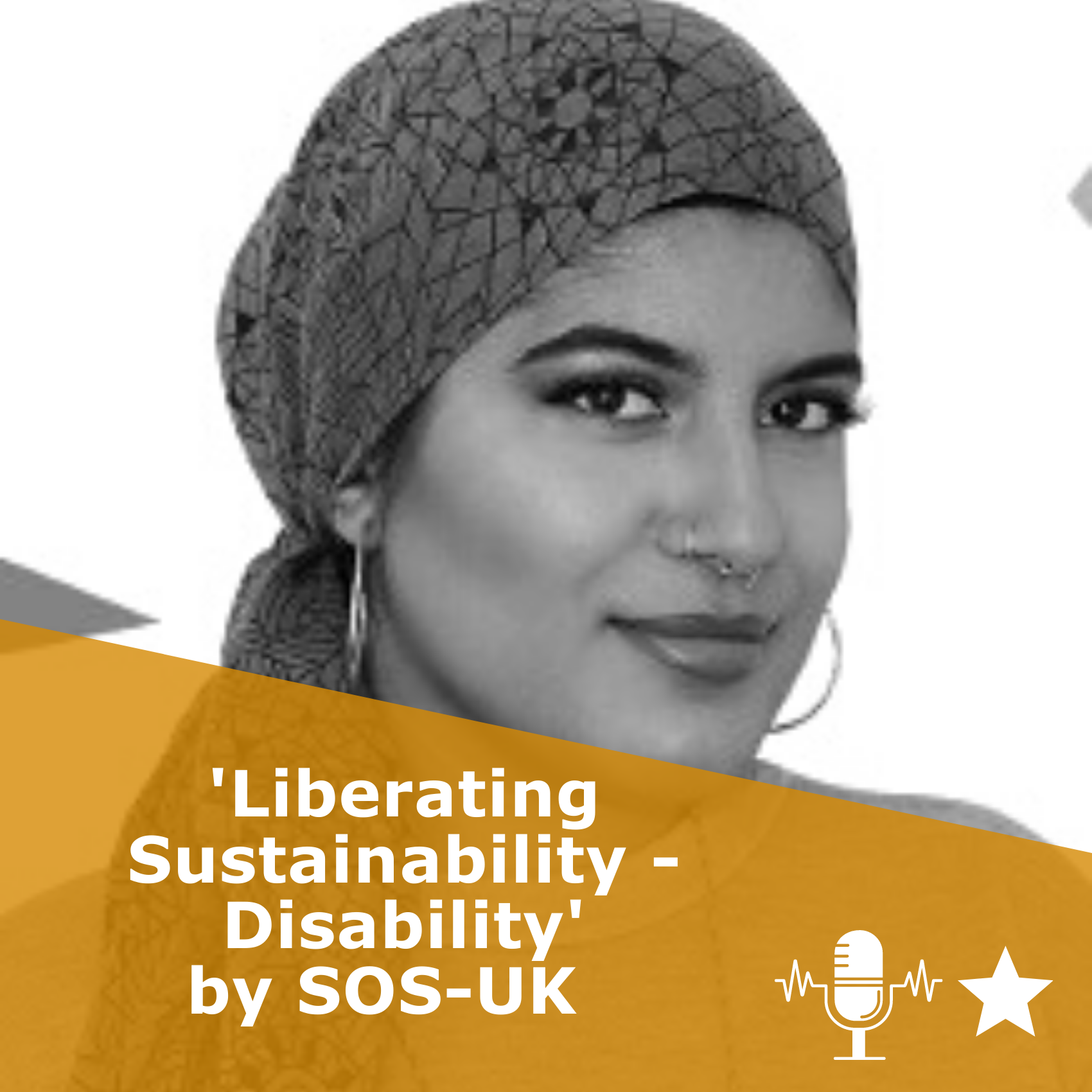 Title 'Liberating Sustainability - Disability | SOS-UK'. It is a podcast episode rated 1 star.