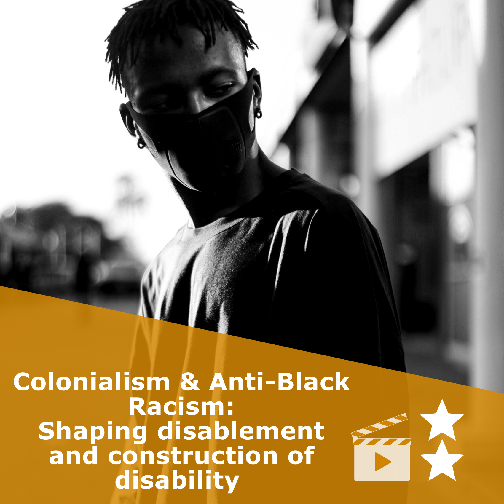 Title 'Colonialism & Anti-Black Racism: Shaping disablement and construction of disability'. It is a video rated 2 stars.