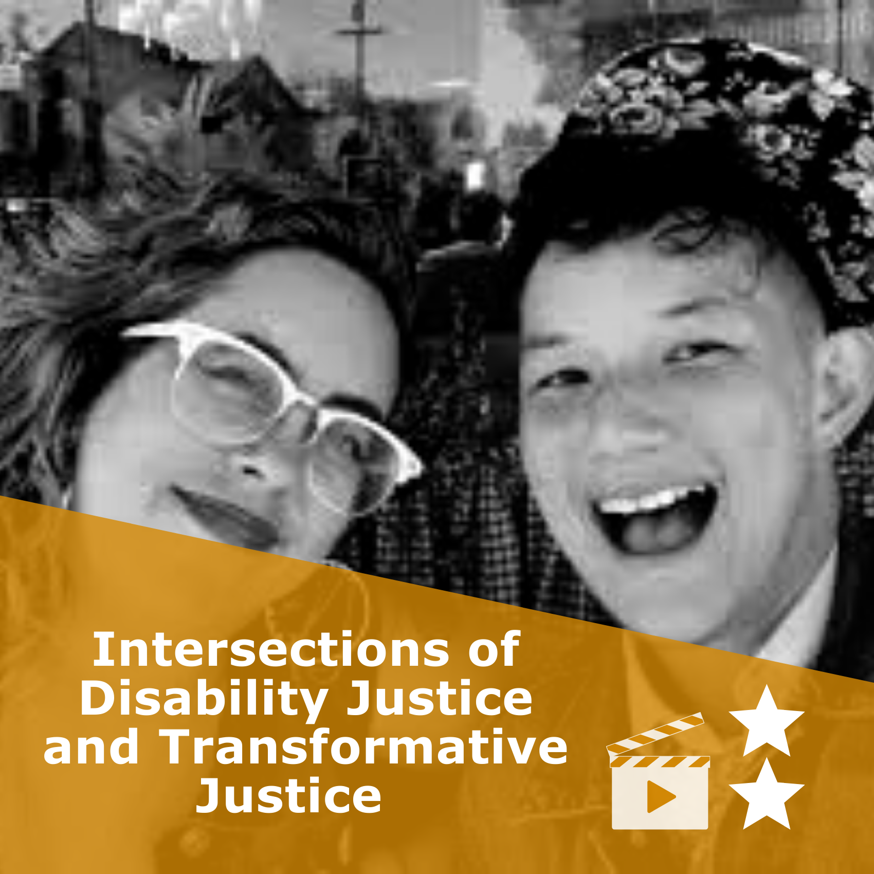 Title 'Intersections of Disability Justice and Transformative Justice'. It is a video rated 2 stars.