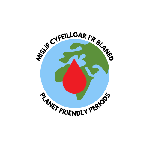 The Period Poverty logos; Students for Periods and Planet Friendly Periods
