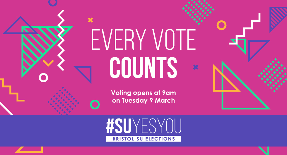 Every Vote Counts. Voting opens at 9am on Tuesday 9 March