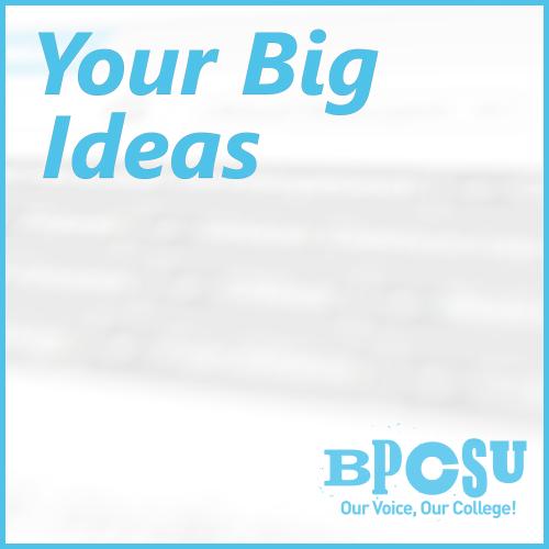 Your big ideas